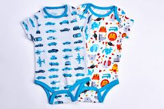 Bodysuits дизайна младенческих детей милые стоковое фото