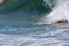 Bodysurfer Catching a Wave Stock Photo