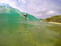 Bodysurfing夏威夷 免版税库存照片