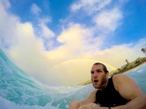 Bodysurfing foto de archivo libre de regalías