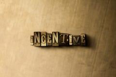 BODZIEC - zakończenie grungy rocznik typeset słowo na metalu tle Fotografia Royalty Free