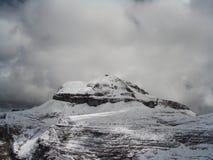 boe多雪山顶的piz 免版税库存图片