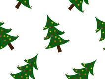 boże narodzenia deseniują drzewa Zdjęcie Stock
