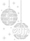 Boże Narodzenia i nowego roku 2017 tło Fotografia Royalty Free