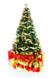 boże narodzenie prezenty drzewni Zdjęcie Royalty Free
