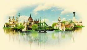 Boedapest Vector Illustratie