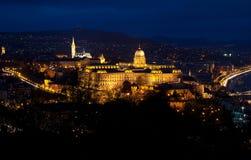 Boedapest bij nacht Stock Foto