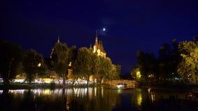 Boedapest bij nacht - Schuine stand stock footage