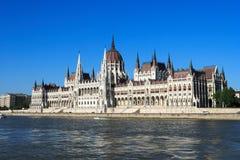 Boedapest, de bouw van het Parlement Royalty-vrije Stock Foto