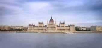 Boedapest, de bouw van het Parlement Stock Afbeeldingen