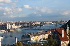 Boedapest en Rivier Donau Royalty-vrije Stock Fotografie
