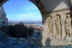 Boedapest in Europese architectuur Stock Foto