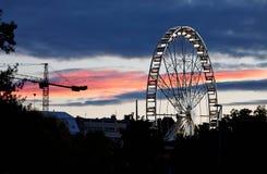 Boedapest Ferris Wheel Stock Foto's