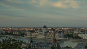 Boedapest, het Hongaarse Parlement stock footage