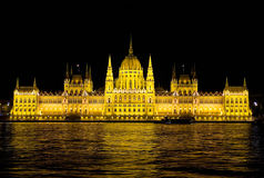 Boedapest - het Parlement Stock Afbeelding
