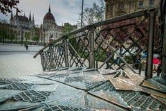 BOEDAPEST, HONGARIJE - AVRIL 15, 2016: Het monument van Eerste Minist Stock Afbeelding