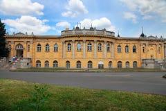 BOEDAPEST, HONGARIJE - CIRCA JULI 2014: Een deel van Szechenyi Medi Royalty-vrije Stock Afbeelding
