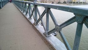 Boedapest, Hongarije De Kettingsbrug Szechenyi Lanchid in Boedapest, Hongarije stock foto