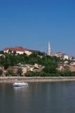 Boedapest Hongarije en de rivier van Donau Royalty-vrije Stock Fotografie