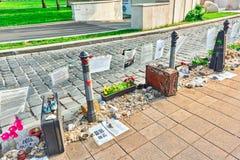 BOEDAPEST, 04 HONGARIJE-MEI, 2016: Liberty Square Budapest-Memorial royalty-vrije stock fotografie