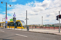 BOEDAPEST, 03 HONGARIJE-MEI, 2016: Mooie landschaps stedelijke mening Stock Foto