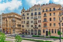 BOEDAPEST, 05,2016 HONGARIJE-MEI: Mooie landschaps stedelijke mening, stad Stock Afbeeldingen