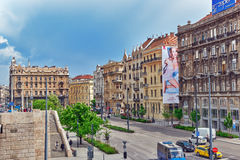 BOEDAPEST, 05,2016 HONGARIJE-MEI: Mooie landschaps stedelijke mening, stad Royalty-vrije Stock Fotografie
