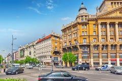 BOEDAPEST, 05,2016 HONGARIJE-MEI: Mooie landschaps stedelijke mening, stad Stock Fotografie