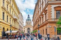 BOEDAPEST, 02,2016 HONGARIJE-MEI: StStephenbasiliek in Boedapest bij Royalty-vrije Stock Foto