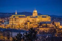 Boedapest, Hongarije - mooi Buda Castle Royal Palace Royalty-vrije Stock Fotografie