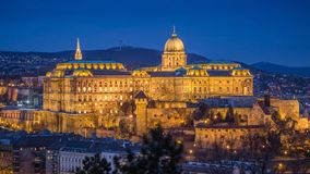 Boedapest, Hongarije - mooi Buda Castle Royal Palace zoals Royalty-vrije Stock Foto