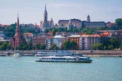 Boedapest Hongarije Rivier Donau Het landschap van de stad Royalty-vrije Stock Fotografie