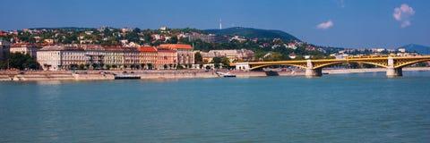 Boedapest Hongarije Rivier Donau Het landschap van de stad Royalty-vrije Stock Foto's