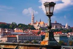 Boedapest Hongarije Rivier Donau Het landschap van de stad Royalty-vrije Stock Foto