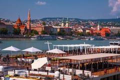 Boedapest Hongarije Rivier Donau Het landschap van de stad Royalty-vrije Stock Afbeeldingen