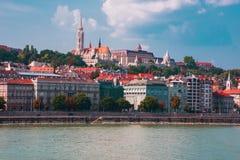Boedapest Hongarije Rivier Donau Het landschap van de stad Stock Fotografie