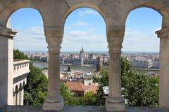 Boedapest, Hongarije van het Bastion van Vissers Royalty-vrije Stock Foto's