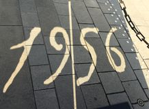 Boedapest, Hungari - Augustus 29, 2017: Gedenkteken in memoriam 1956 25 oktober In Boedapest, Hongarije Stock Foto's