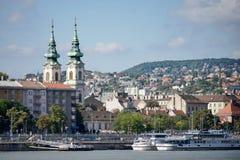 BOEDAPEST, HUNGARY/EUROPE - 21 SEPTEMBER: Szent Anna Templom binnen royalty-vrije stock foto's