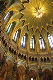 Boedapest, koepel van het parlement Stock Afbeelding
