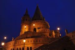 Boedapest - nachtscène Stock Fotografie