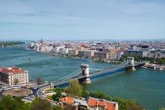 Boedapest - panorama van kasteel Stock Afbeelding