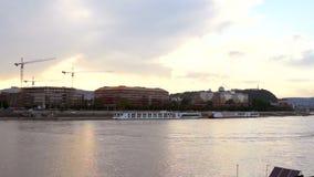 Boedapest panoramatic Dunabe stock videobeelden