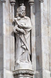 Boedapest - st. stephen standbeeld royalty-vrije stock fotografie