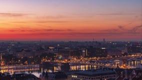 Boedapest - stad het wekken stock videobeelden