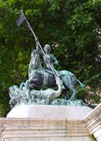 Boedapest - Standbeeld van St. George stock afbeeldingen