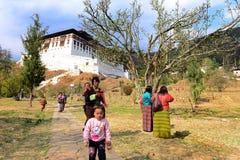Boeddhisme in Bhutan stock fotografie