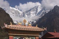Boeddhisme in het Himalayagebergte Stock Foto's