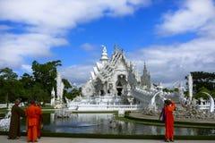 Boeddhisme in 21ste Eeuw Witte tempel Stock Foto
