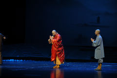 Boeddhismeetiquette- de opera van Jiangxi een weeghaak Royalty-vrije Stock Foto